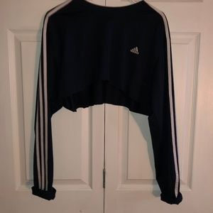Adidas oversized Crop top